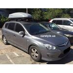 [Багажник Thule-757 WingBar Black и бокс Terra Drive-480 (серый) на Hyundai i30] - [FU HY3-24]