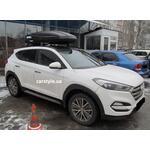 [Багажник Aguri Runner і бокс Terra Drive-480 (чорний) на Hyundai SantaFe] - [FU HY4-7]