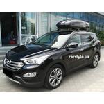 [Багажник Thule-753 WingBar Black і бокс Terra Drive-480 (чорний глянець) на Hyundai SantaFe] - [FU HY4-15]