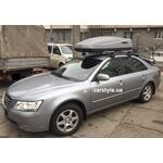[Багажник Thule-754 Stream і бокс Terra Drive-480 (сірий) на Hyundai Sonata] - [FU HY4-8]