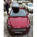 [Багажник Thule-754 Aero и бокс Terra Drive-480 (серый) на Ford Mondeo] - [FU FO2-31]