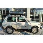 [Багажник Amos Uni Stl і бокс Terra Drive-420 (сірий) на Lada Niva] - [FU LAD2-15]