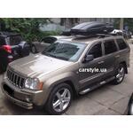 [Багажник CarStyle Straps Stream і бокс Terra Drive-480 (чорний) на Jeep Grand Cherokee Limited] - [FU JP2-2]