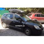 [Багажник Whispbar FlushBar и бокс Terra Drive-480 (черный) на Kia Carens] - [FU KI1-1]