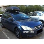 [Багажник Thule WingBar Edge 959 Black и бокс Terra Drive-440 (черный) на Kia Ceed] - [FU KI2-9]