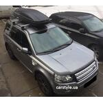 [Багажник Thule-754 Stream и бокс Terra Drive-480 (черный) на Land Rover Freelander] - [FU LR4-4]