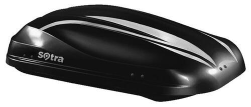 [Автобокс на крышу авто Sotra Altro 370 Black Glossy] - [Sot-AL-370 GB]