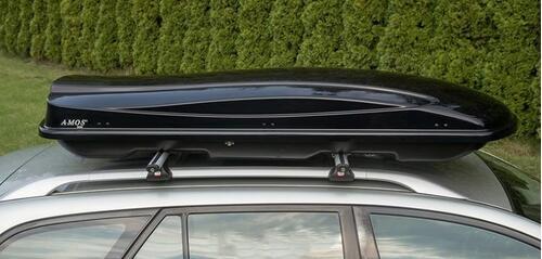[Автобокс на крышу Amos 500 черный глянец] - [AM 500B]