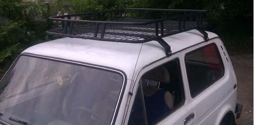 [Грузовая корзина на крышу авто Kenguru Expedition с 4 бортами и сеткой (128x90х14 см)] - [KE KEB]