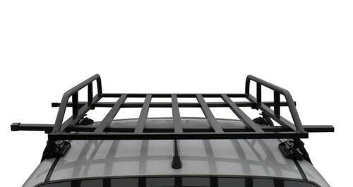 [Грузовая корзина на крышу авто Kenguru с 2 бортами (128x90х14 см)] - [KE KB]