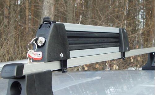 [Крепление Amos Ski Lock-3 для 3 пар лыж/2 сноуборда серое] - [AM SL-3-Al]