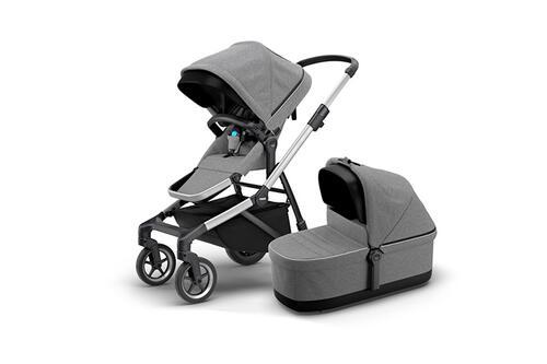 [Детская коляска 2 в 1 Thule Sleek + люлька Bassinet (Grey Melange)] - [TH11000006]