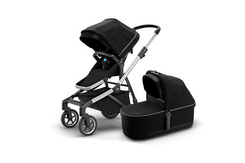 [Детская коляска 2 в 1 Thule Sleek + люлька Bassinet (Midnight Black)] - [TH11000007]