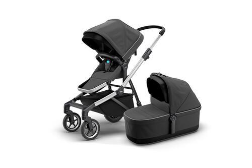 [Детская коляска 2 в 1 Thule Sleek + люлька Bassinet (Shadow Grey)] - [TH11000008]