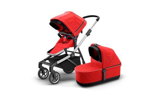 [Детская коляска 2 в 1 Thule Sleek + люлька Bassinet (Energy Red)] - [TH11000009]