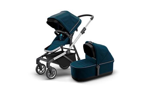[Детская коляска 2 в 1 Thule Sleek + люлька Bassinet (Navy Blue)] - [TH110000010]