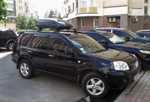 [Автобокс на крышу авто Menabo Mania 320 черный глянец] - [ME-MAN-320B]